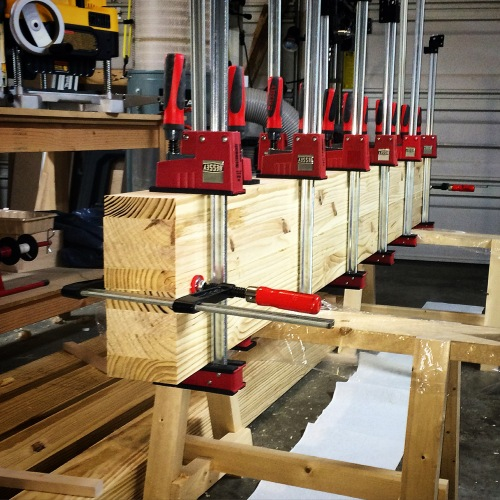 Roubo Slab Glue-up