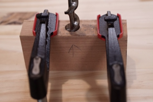 auger bit with guide block
