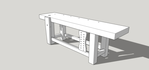 Roubo Workbench Sketchup