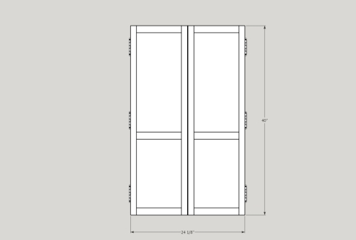 Hanging Tool Cabinet - Front