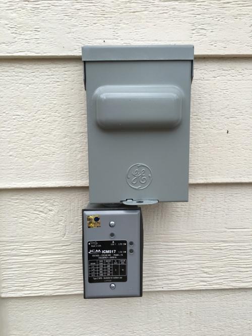 Disconnect Box and Surge Protector-web