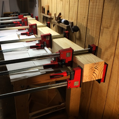 Bench Top Lamination in Clamps